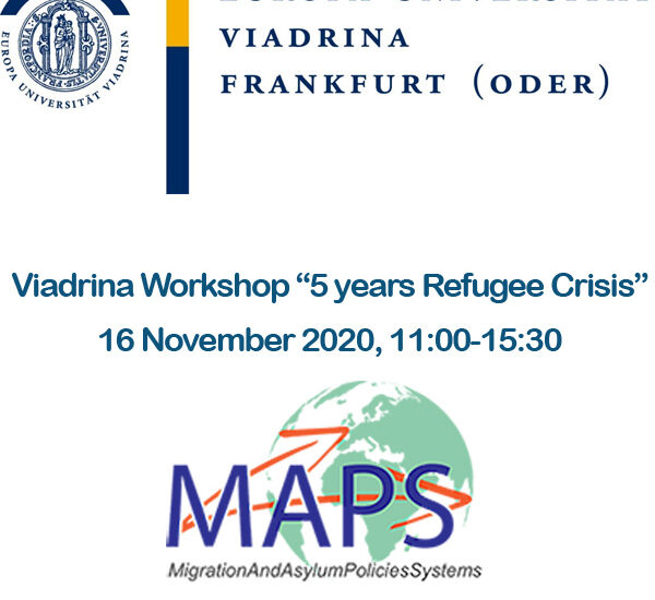"Viadrina Workshop ""5 years Refugee Crisis"" 16 November 2020, 11:00-15:30"